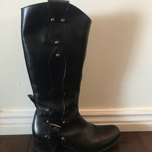 Taryn Rose Black Leather Boots size 39 1/2